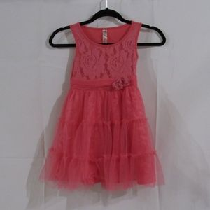 Cherokee kids girls pink sleeveless tulle dress 6